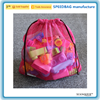 Candy color travel mesh drawstring laundry bag