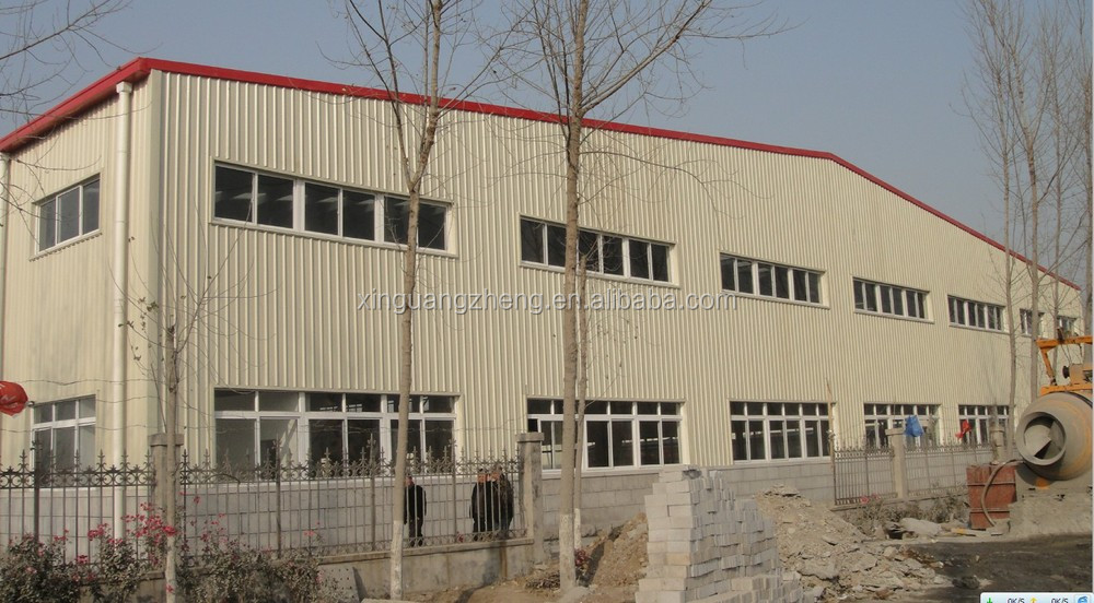 light weight prefabaricated steel structure warehouse