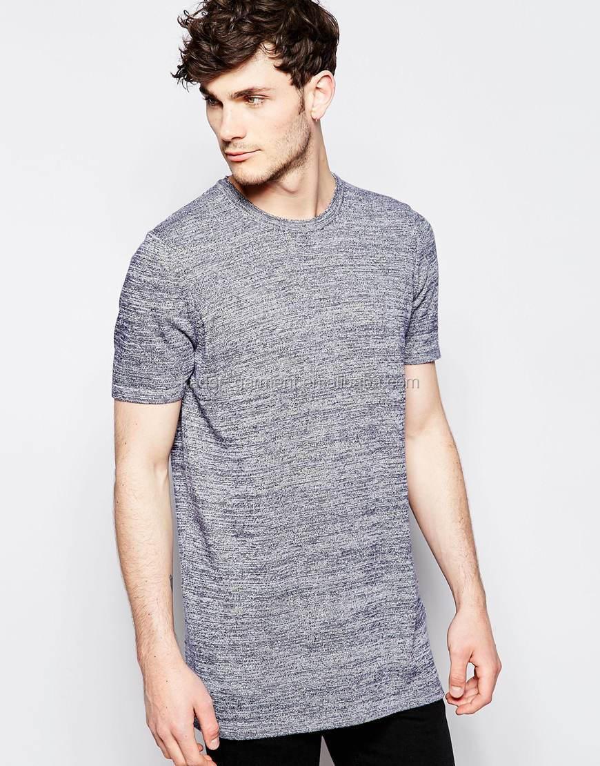 Heather Gray Tri-blend T Shirt,Long Line Slim Fitted Men's T Shirt ...