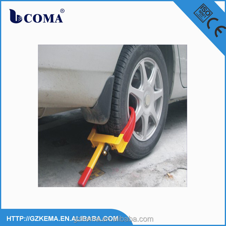 Simple and easy handling car wheel clamp parking lock for car security