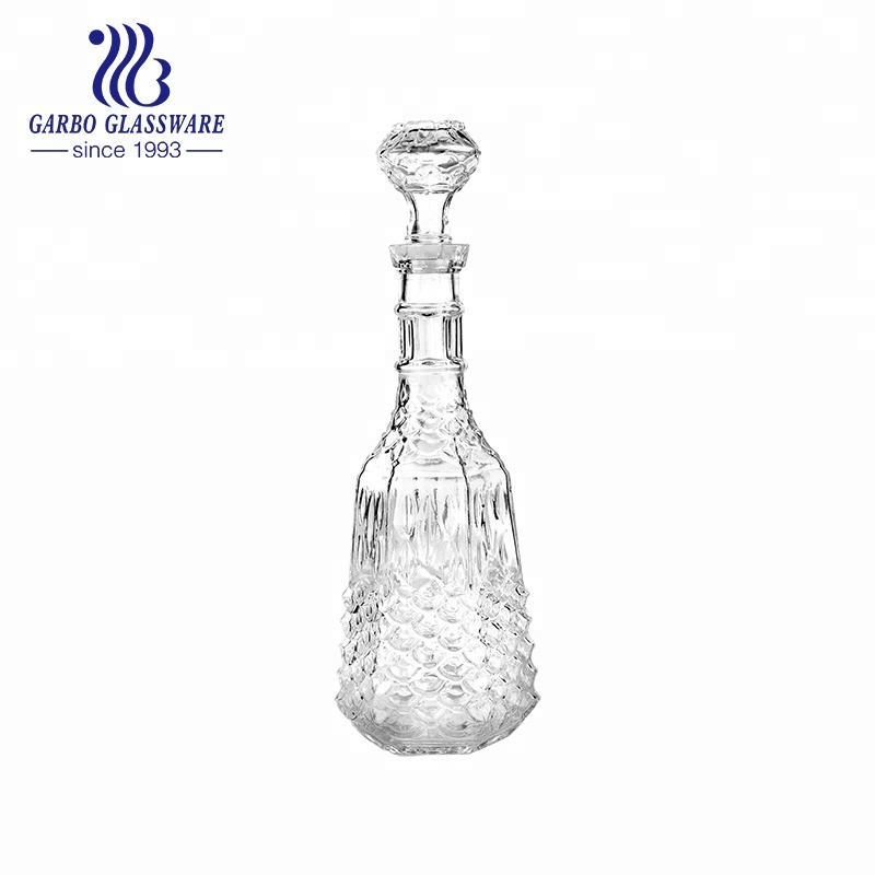 1000ml Zibo Fish Scale Glass Beverage Decanter