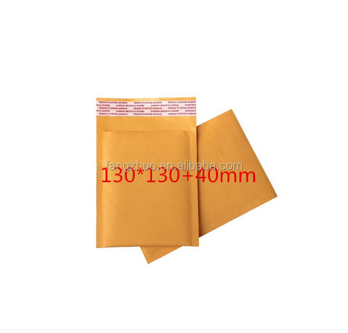 130*130+40mm customized gold padded jiffy bag kraft paper bubble mailers wholesale envelops free shipping