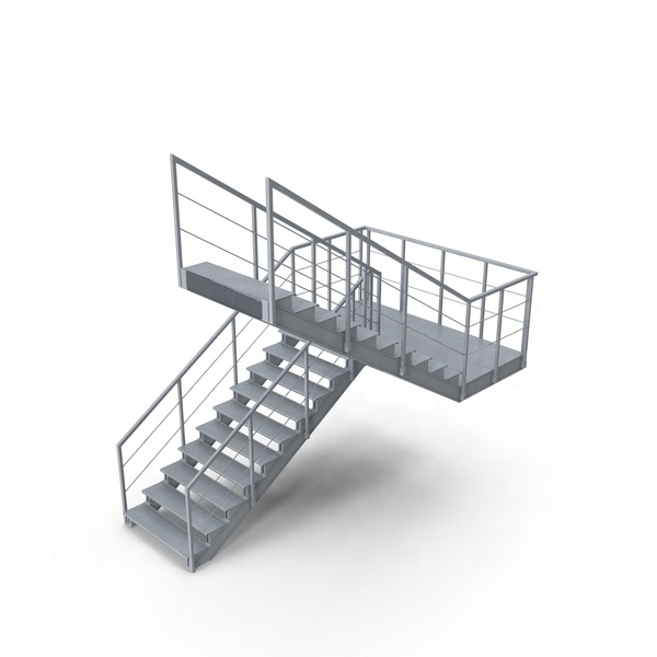 Outdoor fire escape trap gebruikt metalen trappen