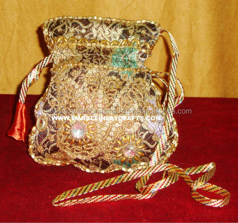 Manufacture Beaded Embroidery Purse Fashion Bags Coin Purse