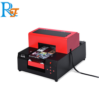 A4 size multifunctional UV led flatbed printer for plastic glass wood carpet marble leather printing