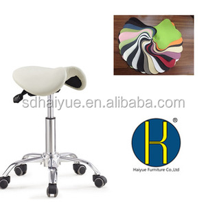 Hot sale ergonomic saddle seat chair swivel saddle workshop chair without backrest