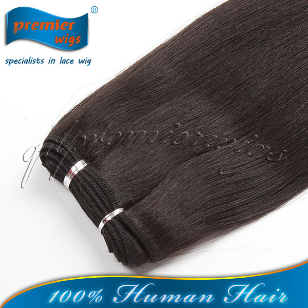 Wholesale Factory Price Indan Remy Hiar Natural Color Light Yaki Machine Made Weft