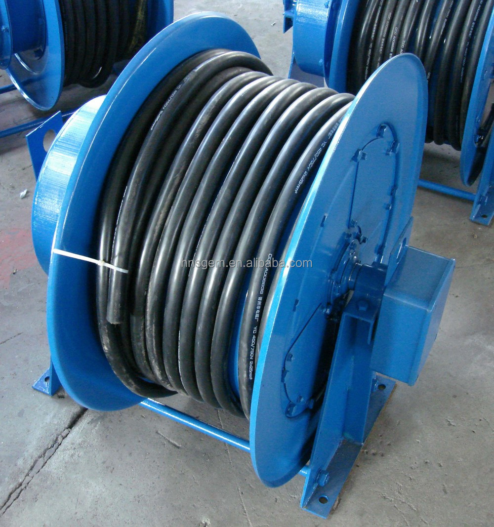 Electric 15m Retractable Slip Ring Cable Reel