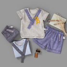 baby boys clothes sets cheap kids boys short sleeve set boy boutique clothes private labels baby clothing design