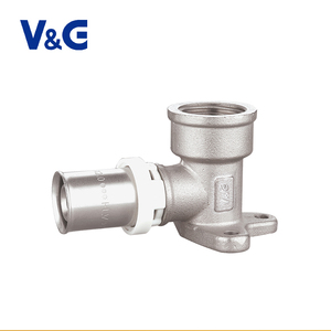 Professional 1/2 Inch Nickel Plating Brass Compression Pvc Pipe Fitting