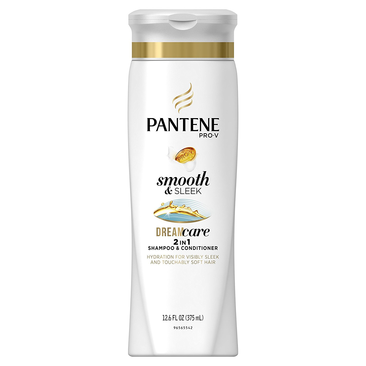 Pantene Pro-V Smooth & Sleek 2 in 1 Shampoo & Conditioner, 12.6 fl oz