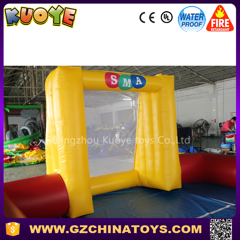 new cheap inflatable mini soap soccer field with small size 9x5m