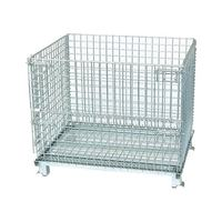 Hot sale stainless steel racks on wheels warehouse wire mesh container storage cages