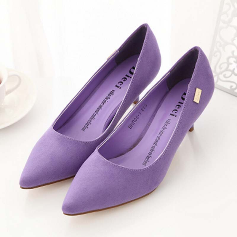 11 Colors Big Size Women Pumps Sexy Pointed Toe High Heels Shoes Woman Wedding Party Shoes Casual Platform Pumps,DJ0131
