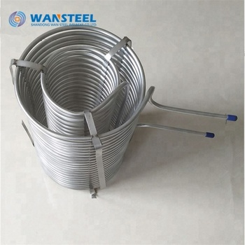 "1/4""O.D 316 202 SS Welded Polished Stainless Steel Coiled pipe"
