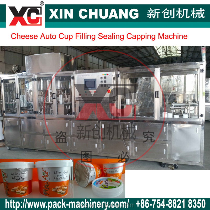 CFD 3 Cheese Cup Auto Filling Sealing Cap Machine
