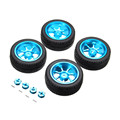 4PCs Rim and Tires with 7mm To 12mm Adapter For A959 B 1 18 WLtoys A949