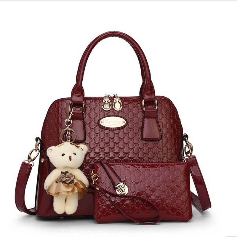 c8c5407a3b0f Get Quotations · new arrive woman bags 2015 bag handbag fashion handbags 2  bags set with bear toy