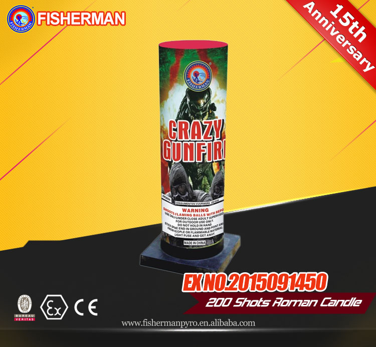 Thnuder king chemical formula roman candle fireworks for wholesale