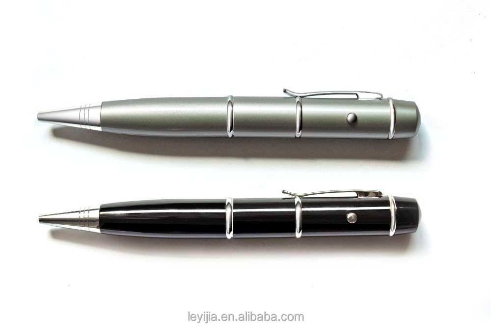 Promote metal ball pen with laser <strong>point</strong> and USB drive 2GB-16 gb
