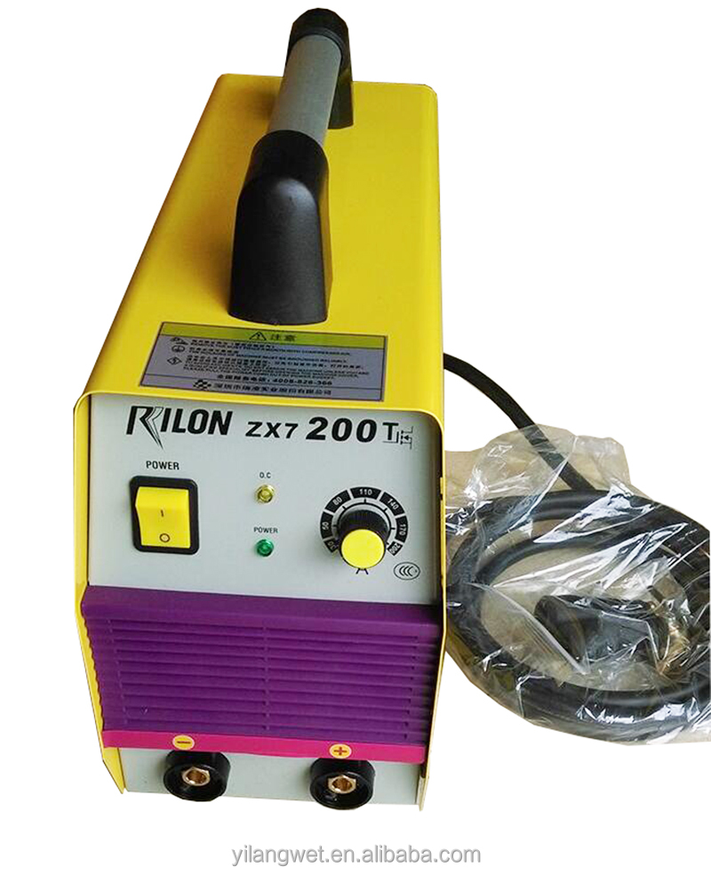 Hand-held portable rilon inverter stick ARC MMA inverter welding machine mma-200