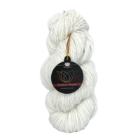 1 *50g hank handspun 100% angora yarns handknitting yarns color nat white