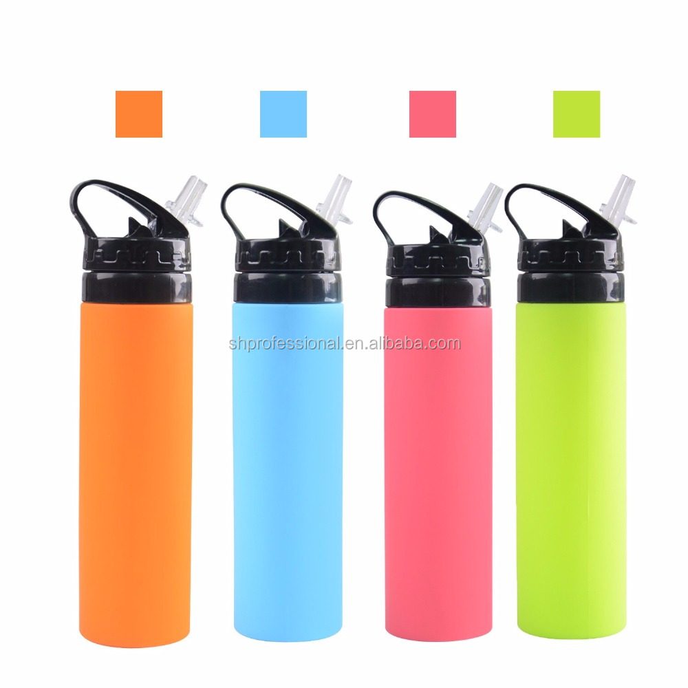 Custom PlasticWholesale Portable Foldable Bottle Collapsible Silicone Water Bottle For Bicycle Water Bottle Manufacturer