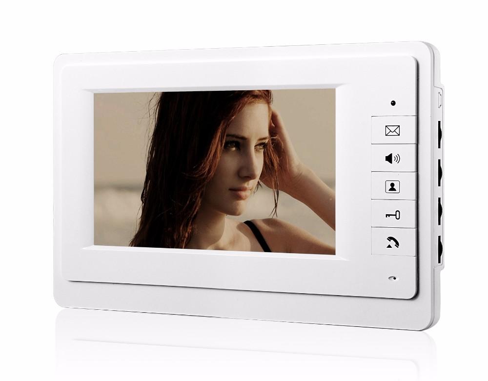video door phone Intercom monitor 7 inch Indoor color monitor 7inch color TFT-LCD video door phone indoor unit Unlock the door