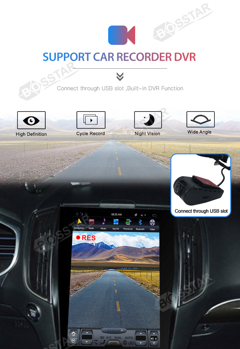 Bosstar factory direct selling Android tesla auto stereo video radio speler voor 2015 Ford Edge met WIFI GPS