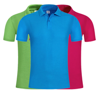 Hot selling 180gsm 100% polyester plain blank customized logo election promotional colorful polo shirt men
