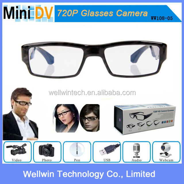 Full HD 720P Mini Hidden Digital Eyewear Glasses Camera Clear Reading Glasses camera