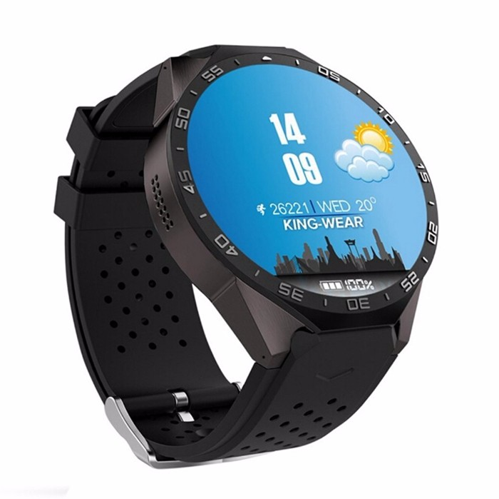 Newest high-end 3G Smart watch KW88 with color touch screen, WIFI gps camera mobile phone for senior and adult ce rohs listed