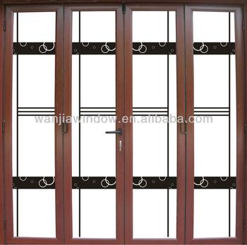 Used Double Glass Folding Door Design Double Bifold - Buy Used ...