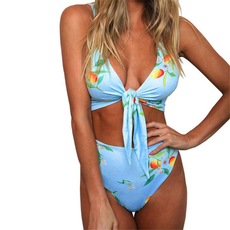8159f3c467 Get Quotations · Rainlife Comfortable HOT Sale, Women Swimwear Print  Breasts Bathing Suit Tankini Swimsuit Bra Bikini Set