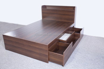 Wholesale Modern bedroom furniture MDF Single Bed Japanese style