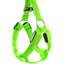 2017 Nylon Heavy Duty Hund Pet Harness Kragen Große Große Medium Kleine Hund Geschirre weste Husky Hunde <span class=keywords><strong>Liefert</strong></span> led harness