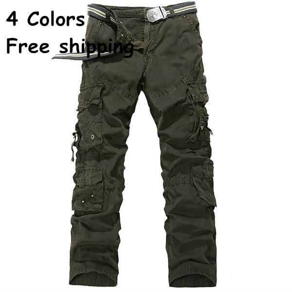 Размер 28-38 большой в наличии мужские брюки-карго, свободного покроя мужские брюки, на нескольких карманный военных брюки для мужчин, армейцы юниоров