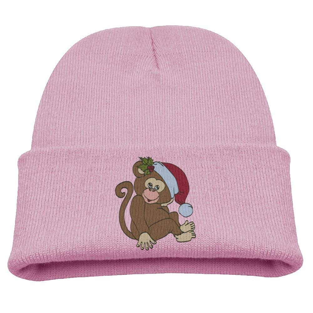 Aiw Wfdnn Kids Knit Cap Cute Christmas Monkey Comfort Winter Hat for Boys/Girls