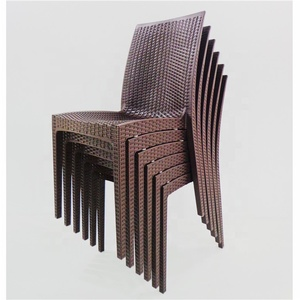 stackable garden rattan side chair