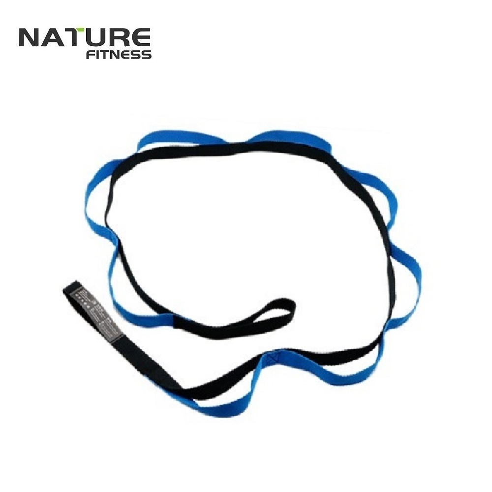 2M Cotton Yoga Belt Yoga Pilates Stretch Strap with Loops Waist Leg Fitness Exercise Gym Fitness Home Weight Loss