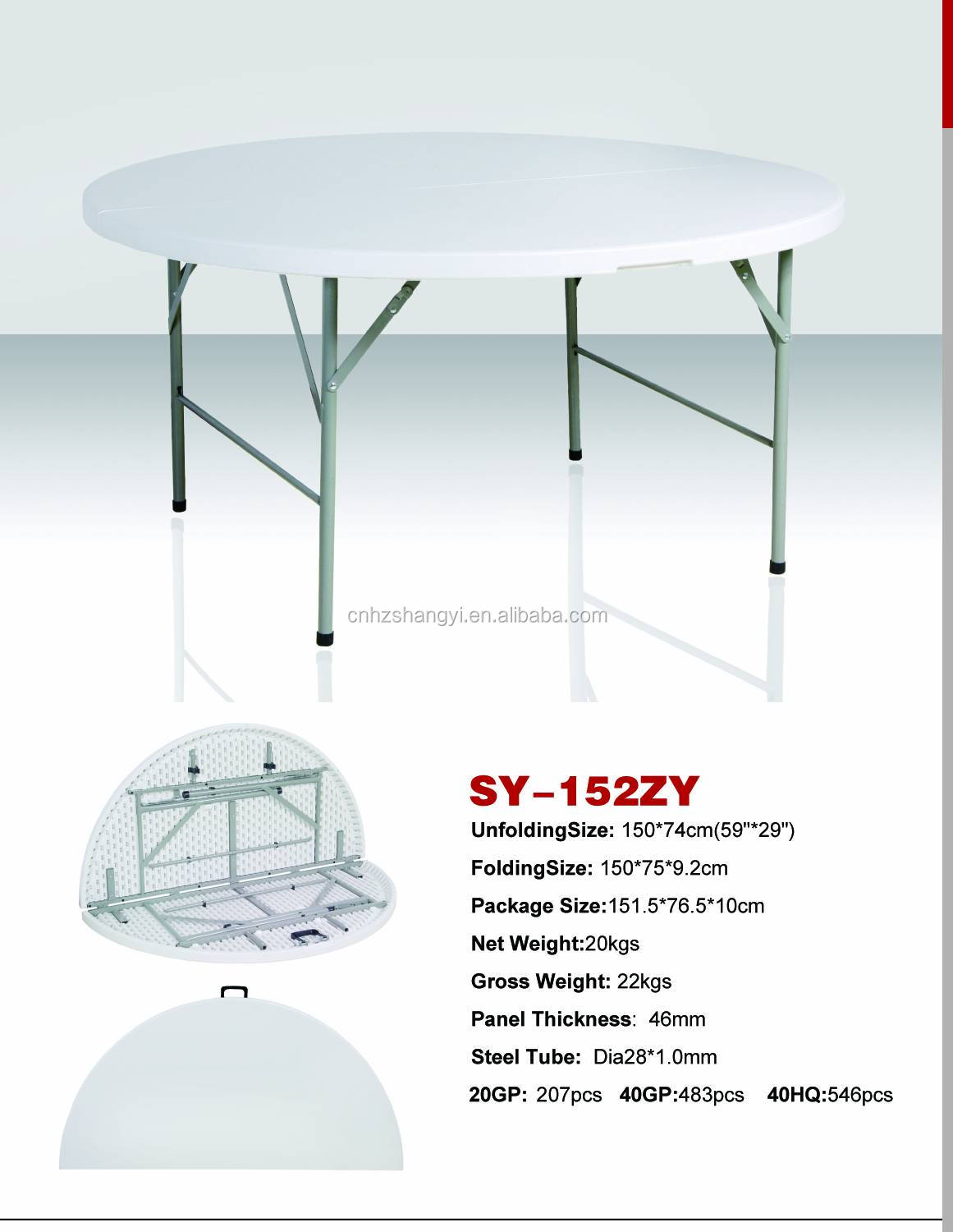 sy 152zy 2ft 3ft 4ft 5ft 6ft Round Folding Table And Chair Buy