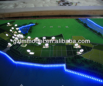 City Park And Lake Planning Land Layout Scale Model Maker ...