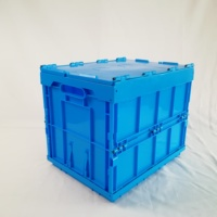 customizable foldable precision pp material plastic crate and lid