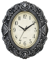 Brand Plastic Luxury Wall Clock With Oval Shape