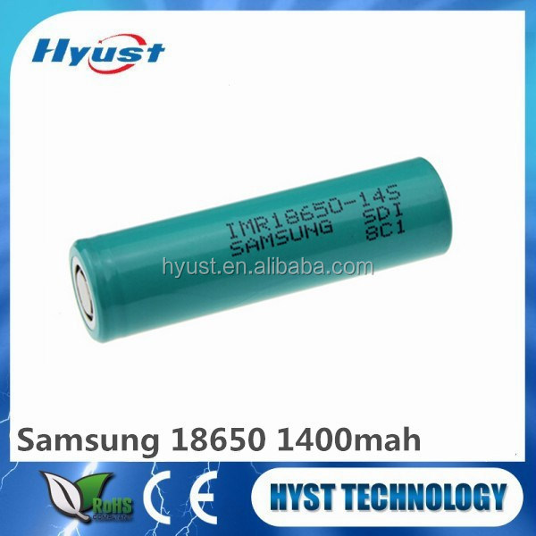 Hot IMR18650 3.7v samsung 1400mAh Rechargeable li-ion battery electric bicycle lifepo4 battery packs - Free shipping