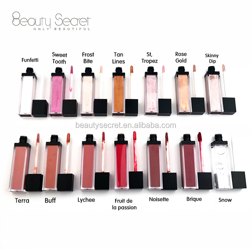 Private label make up your own logo lipgloss