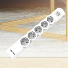 Extension Leads with USB Socket Switched, 5 Gang UK Power Plug 1.5m Long Cable Electrical Power Strip for Home