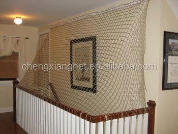 Etonnant Stair Railing Safety Net