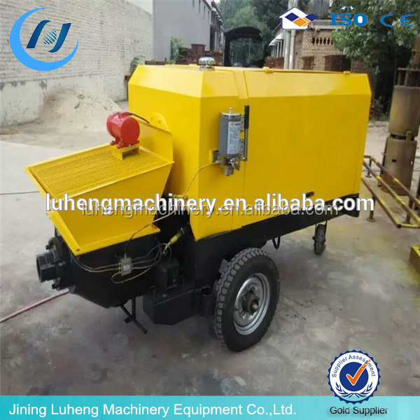 safety assured mini trailer shotcrete concrete pump electric or diesel power engine for large commercial projects