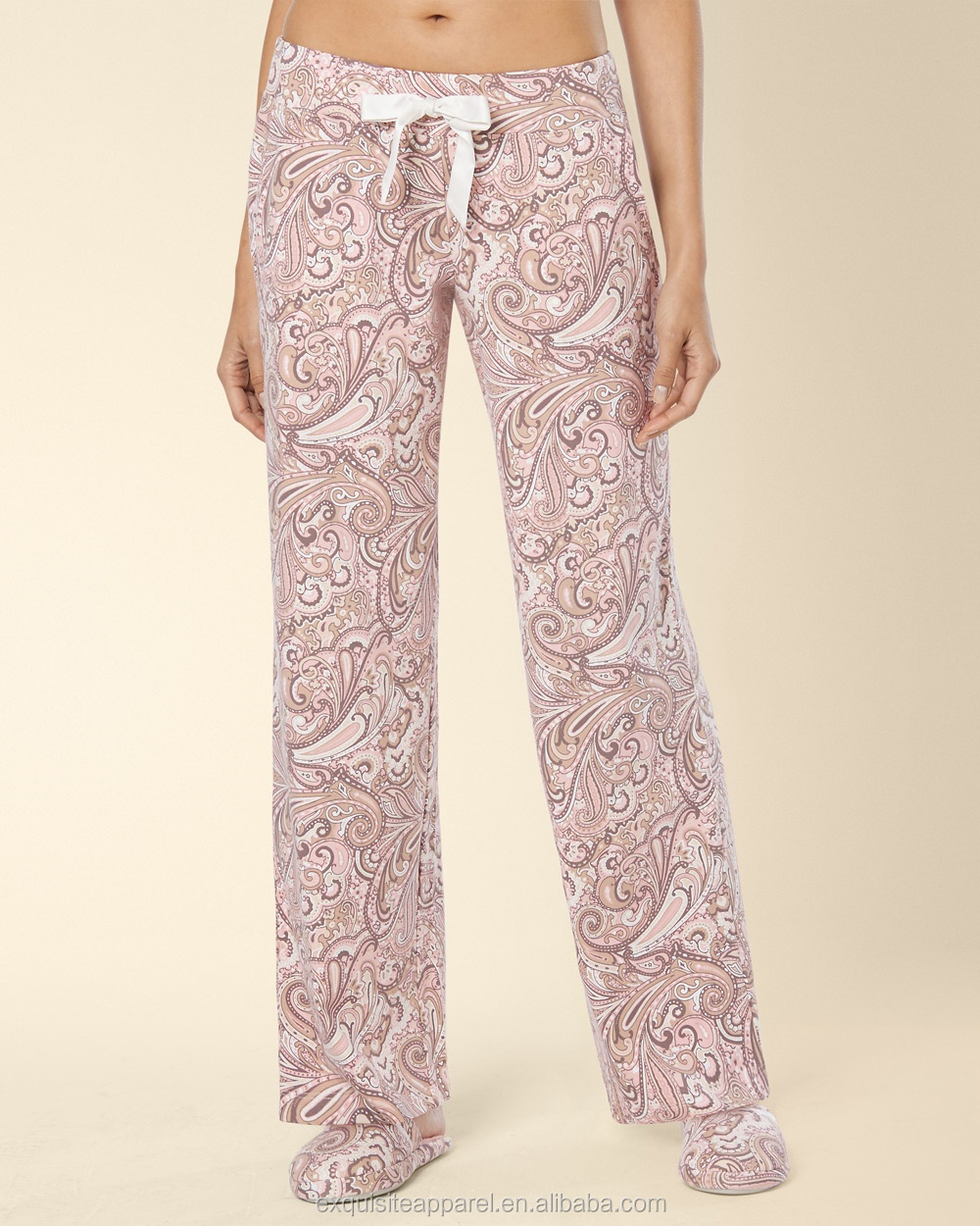 3d31dbcbe Custom Cotton Blend Womens Pyjama Pants/Wholesale Ladies Loose Pajama Pants